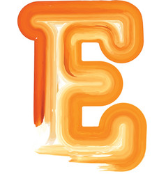 Abstract oil paint letter e vector