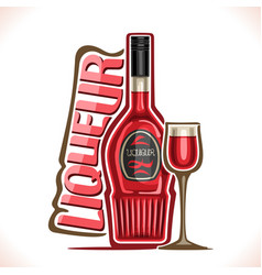 Alcohol drink fruit liqueur vector