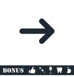 Arrow icon flat vector image