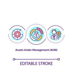 Assets under management concept icon vector