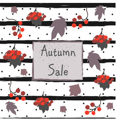 autumn sale advertising card vector image