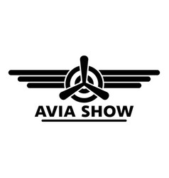 Avia show logo simple style vector