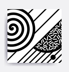 black and white Neo Memphis geometric pattern vector image