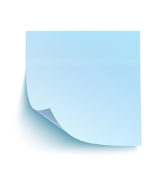 Blue sticky note vector