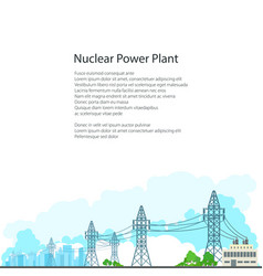 brochure electric power transmission vector image