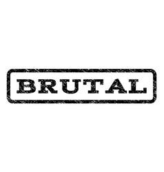 Brutal watermark stamp vector