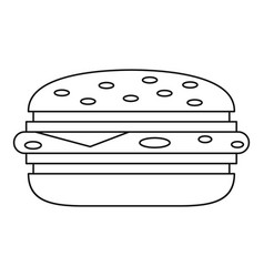 Burger icon outline vector