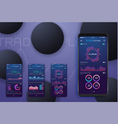 business trend analysis on smartphone screen vector image