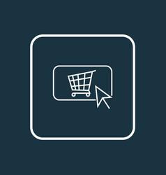 Buy button icon line symbol premium quality vector