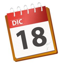 calendar december vector image