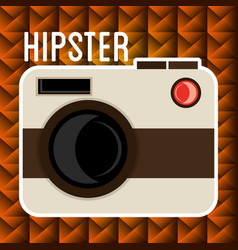 camera photographic hipster style vector image