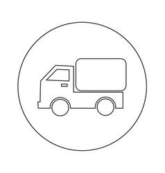 car truck icon design vector image