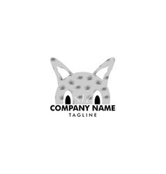 cat logo template vector image