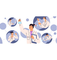 chemical laboratory research vaccine discovery vector image