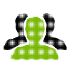 client group halftone icon vector image