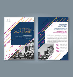 cover annual report 922 vector image