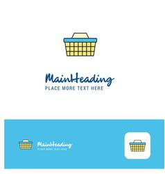 creative basket logo design flat color logo place vector image
