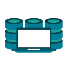 databases web hosting icon image vector image