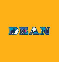 Dean concept word art vector