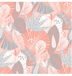 decorative tropical pattern with palm leaves vector image