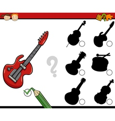 educational shadows task cartoon vector image