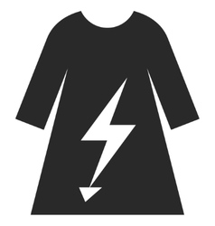 Electric Power Lady Dress Eps Icon vector