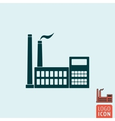 Factory icon isolated vector image