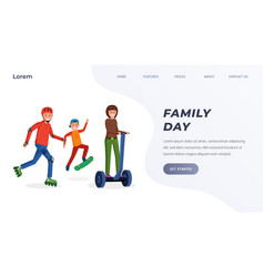 family day landing page concept vector image