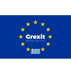 Flag of Greece on European Union Grexit - Greece vector