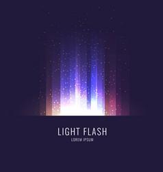 Flash sunlight on horizon vector