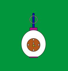 Flat icon design collection military grenade vector