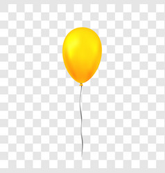 gold balloon 3d thread isolated white vector image