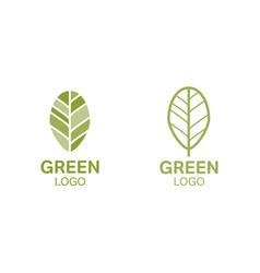 Green leaf logo organic concept vector