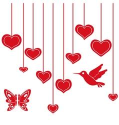 Heart bird vector