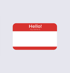 Hello badge name template business card vector