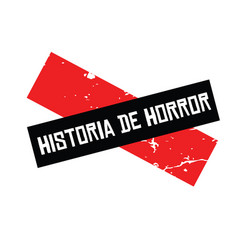 Horror story stamp in spanish vector