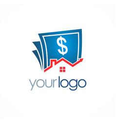 House sold money logo vector