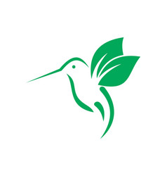 Hummingbirds logo icon concept vector