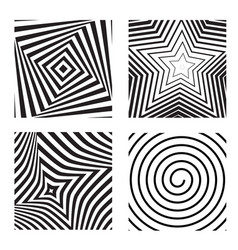 hypnotic background set vector image