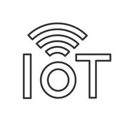 Internet things linear icon vector