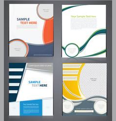 Layout business brochures flyer design template vector