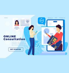 Legal advice online service lawyer website vector