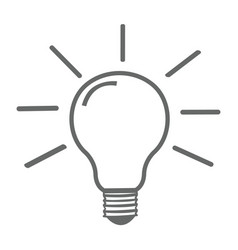 light bulb icon gray background vector image