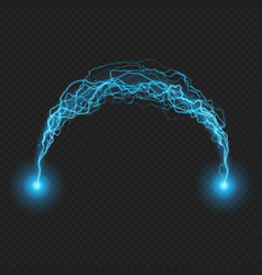 Lightning flash discharge electricity on vector