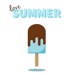 Love Summer popsicle design for cards prints vector