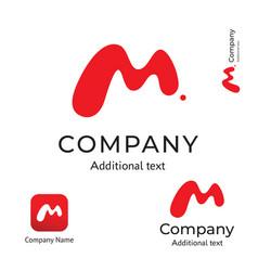 M letter abstract technological modern logo vector