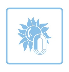 Magnetic storm icon vector image