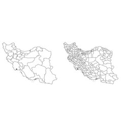 Map iran regions and administrative areas vector