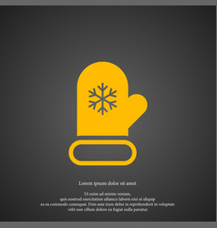 mitten icon simple winter sign vector image