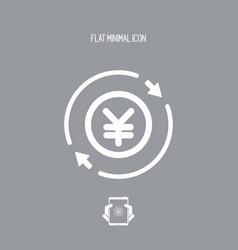 Money trade flat icon - yen vector